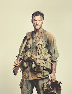 Aidan Turner soldier