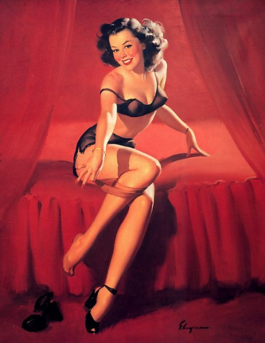gil-elvgren Red Pin Up Valentine's Day