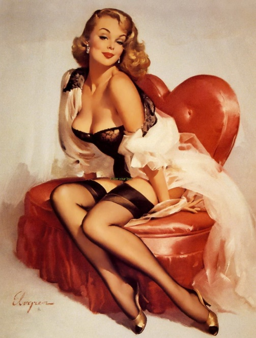 Gil_Elvgren-in pin up heart  Valentine's Day