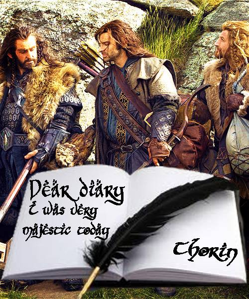 Thorin Oakenshield The Hobbit Dear Diary Majestic