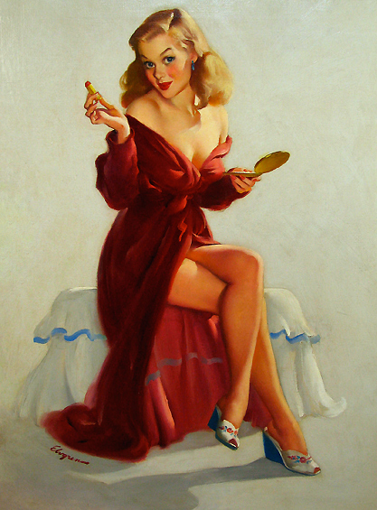 Pin Up red robe Valentines Day