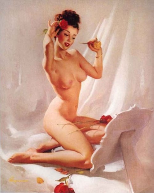 Romantic Pin Up roses Valentine's Day