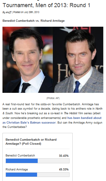 Benedict Cumberbatch vs. Richard Armitage