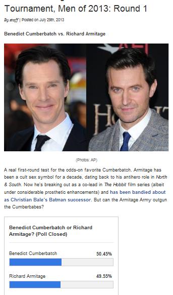 Benedict Cumberbatch vs. Richard Armitage