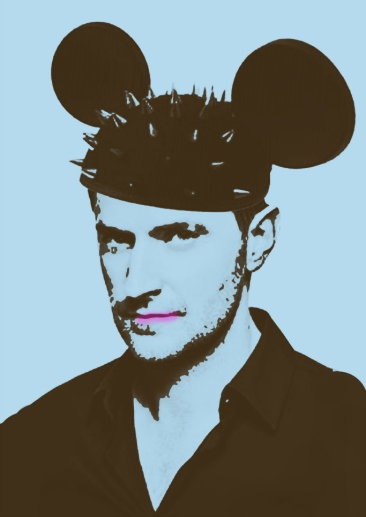Richard Armitage mickey studded pop art small