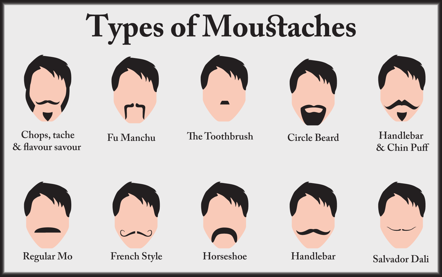 Fu Manchu Mustache Clip Art A moustache, think again!