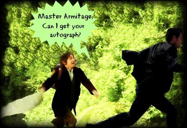 Richard Armitage Bilbo autograph hunter