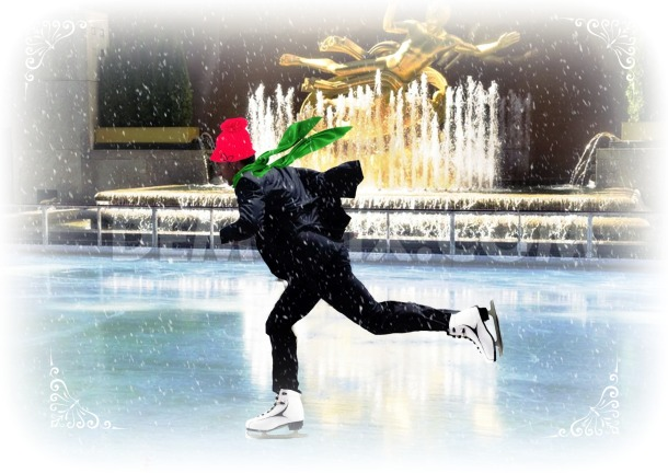 Richard Armitage ice skating winter wonderland