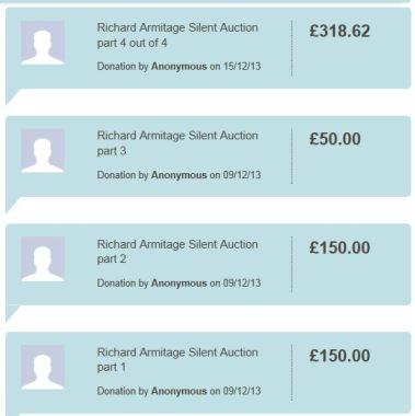 RA Silent auction transfer