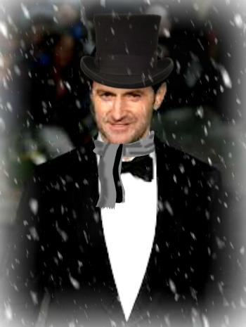 Richard Armitage tux snowing