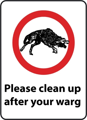 clean up after your warg