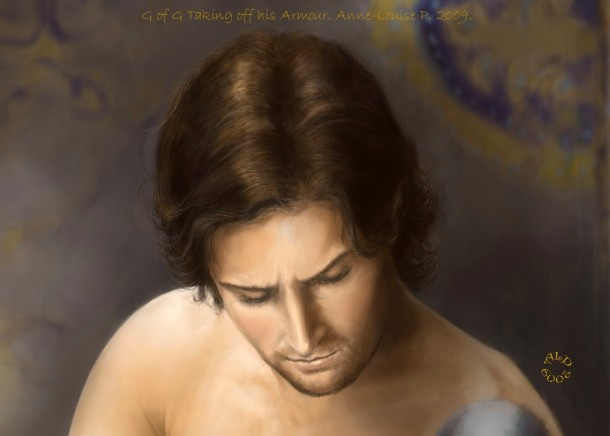 Guy of Gisborne Taking off his Armour. Anne-Louise P. 2009-2